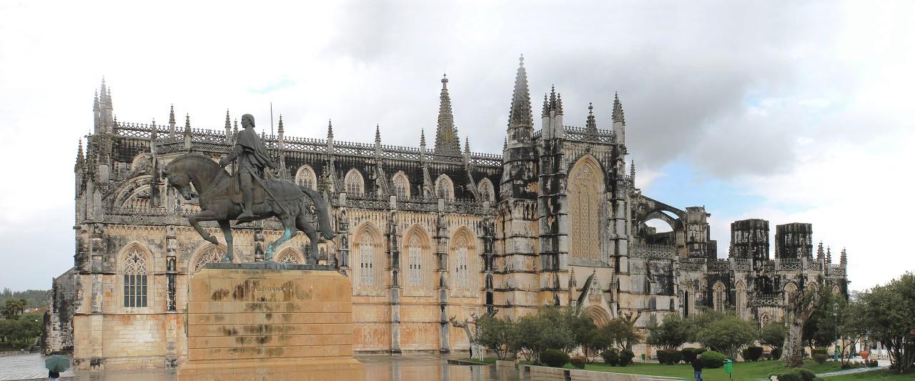 Batalha monastery panoramic photo