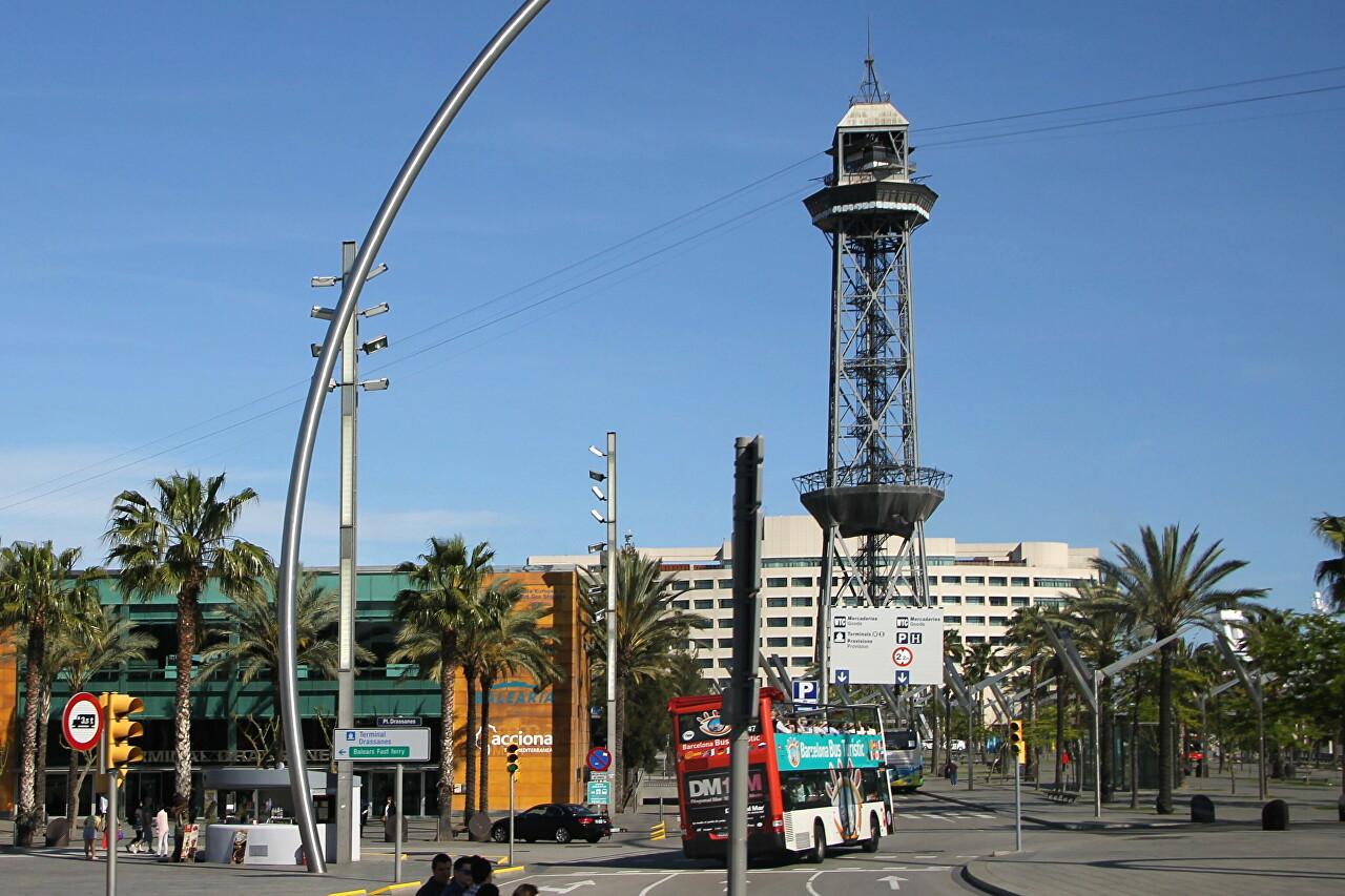 18C pier and Jaime I tower, Barcelona