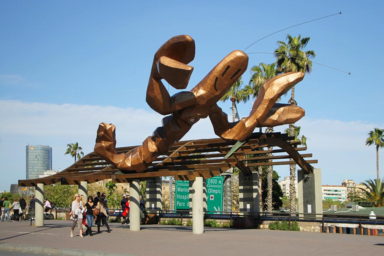 Smiling Shrimp sculpture (La Gamba), Barcelona