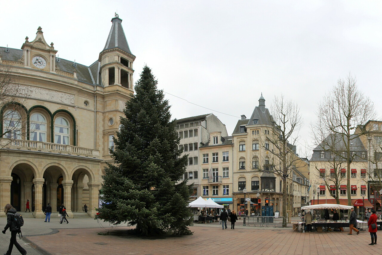 Place d'Armes in New Year, Luxembourg