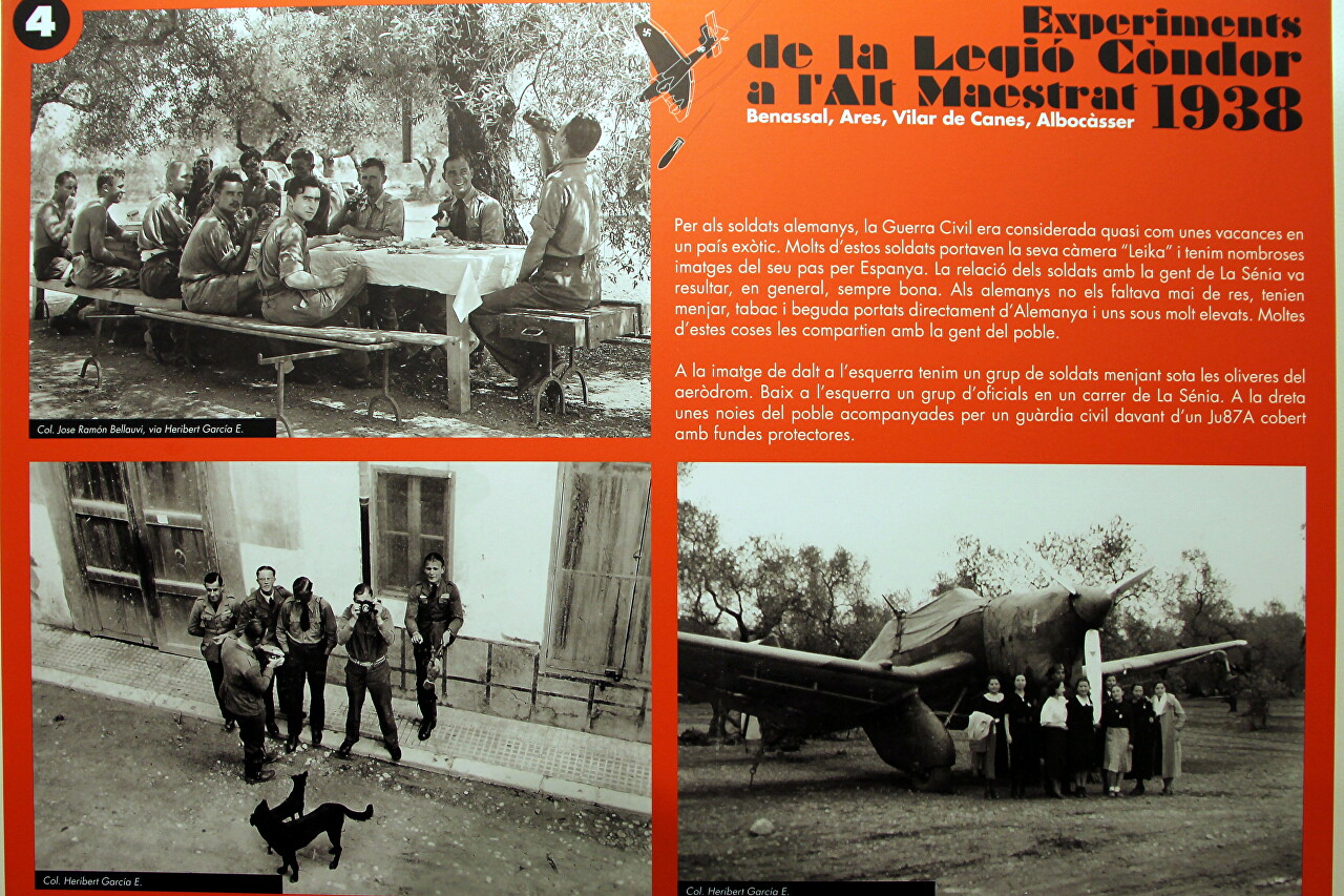 Ju-87A with SC500 bombs in Spain