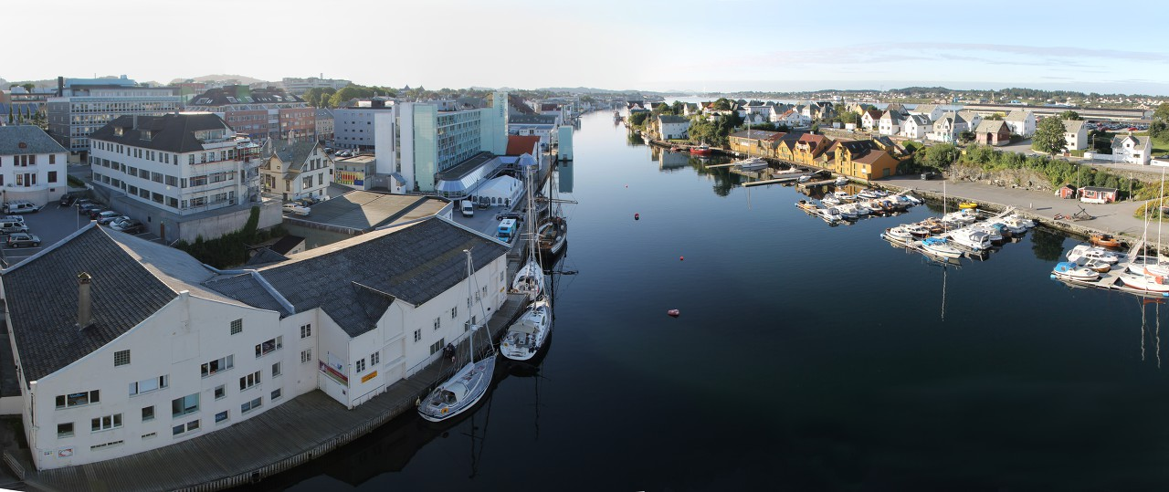 View from Risøybrua bridge. Haugesund panoramnc photo