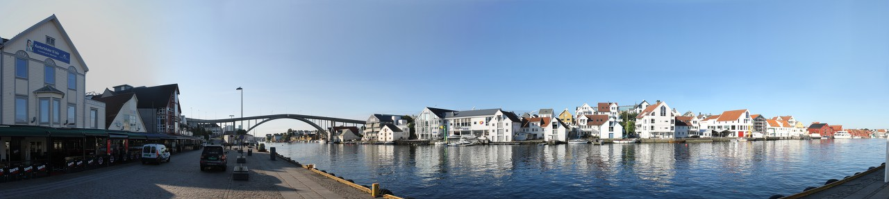 Smedasundet strait. Haugesund panoramnc photo