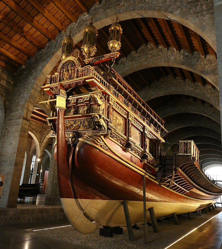 Royal galley (Galera Real). Maritime Museum in Barcelona
