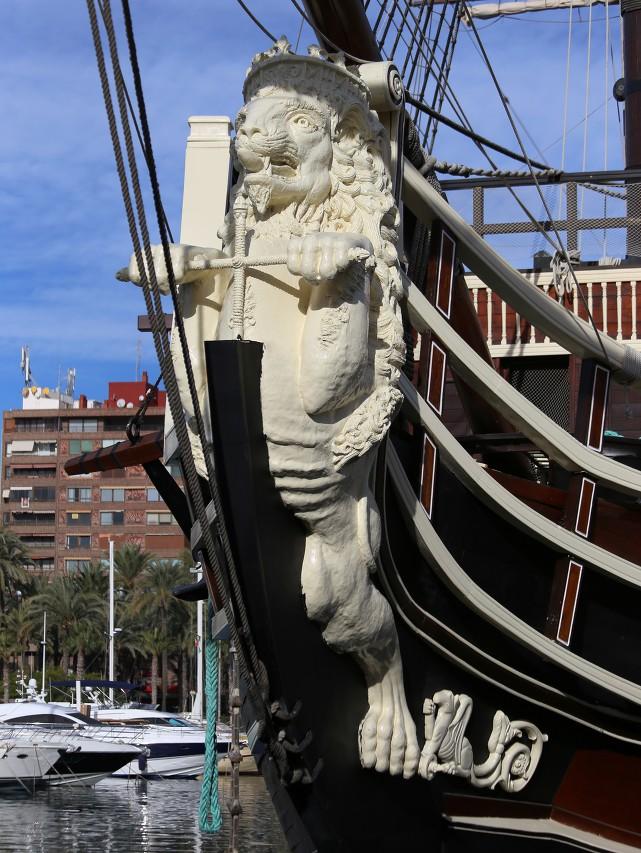 Santísima Trinidad battleship, Alicante