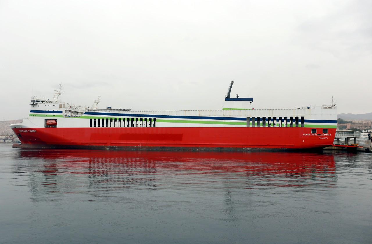 Almería ferry port, Super-Fast Canarias