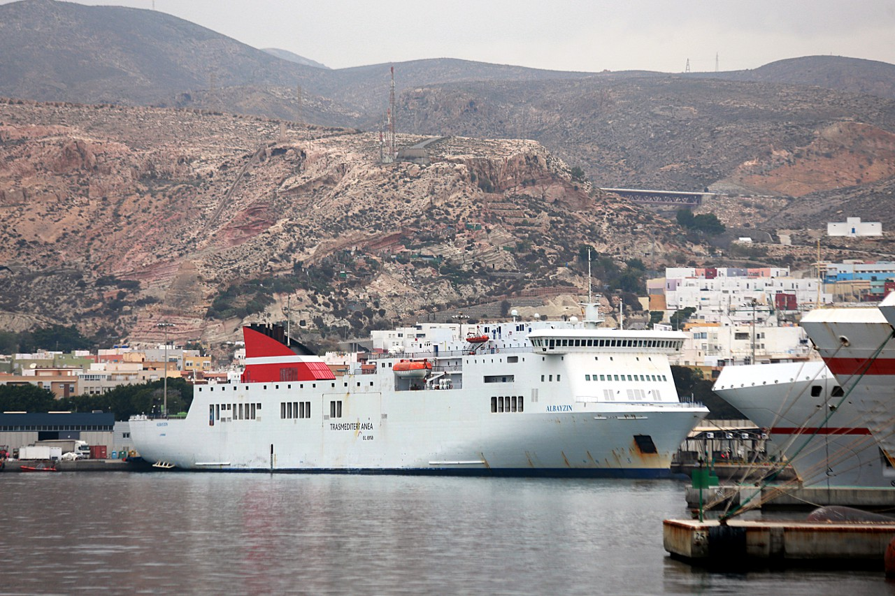 Almería ferry port, MF Albayzin