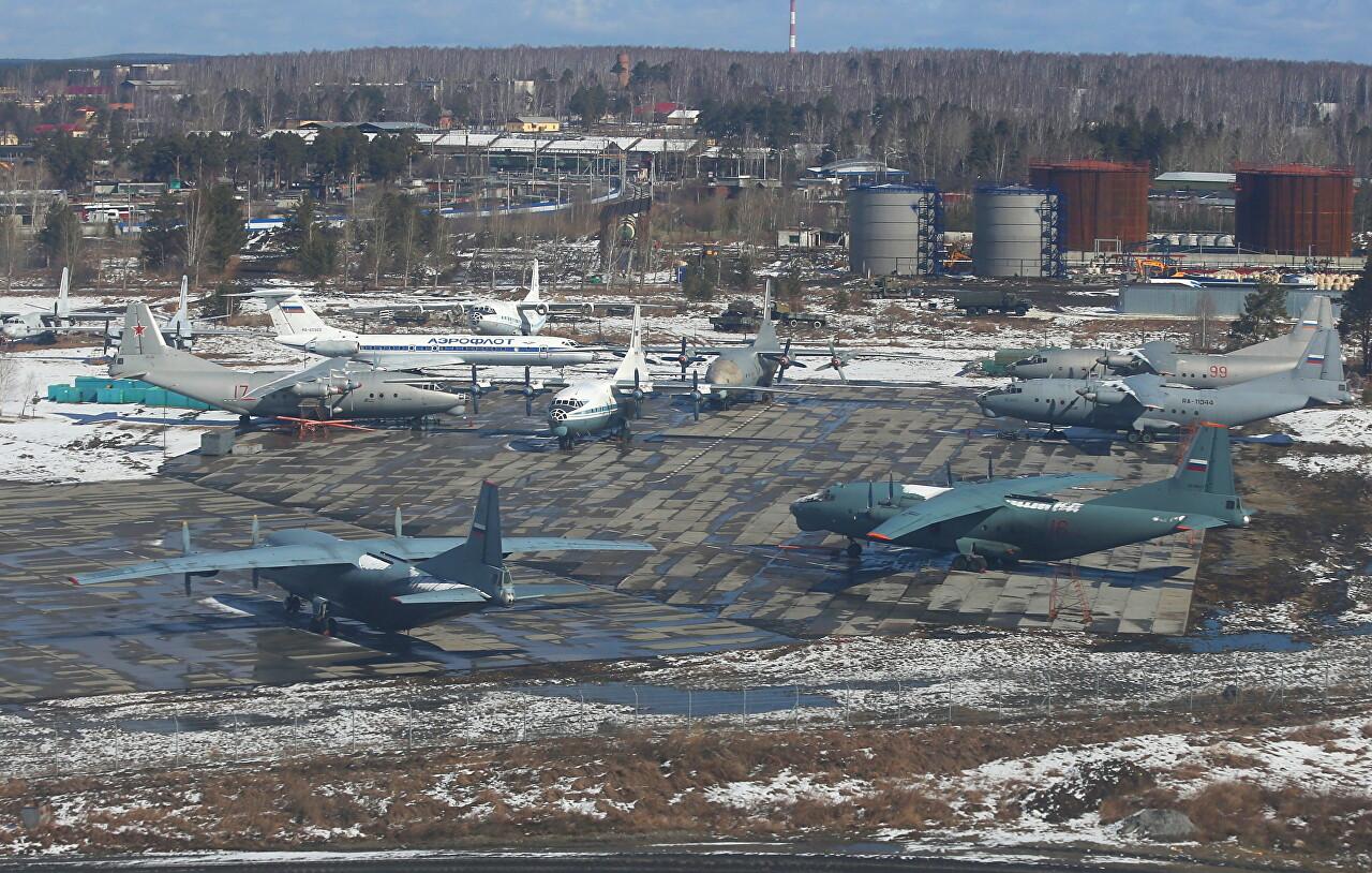 Yekaterinburg-Koltsovo airport military area. Antonov An-10