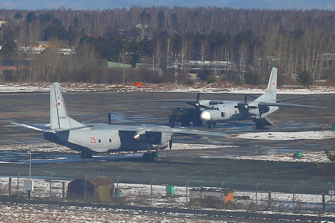 Yekaterinburg-Koltsovo airport military area. Antonov An-26