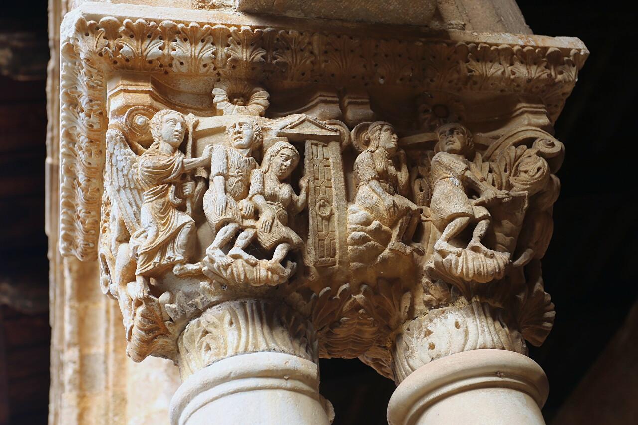 Colums capitals of the Benedictine monastery, Monreale